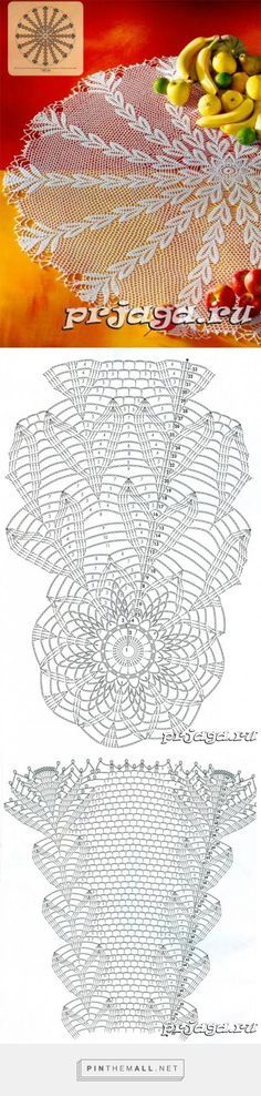 Большая салфетка крючком, с сердечками - created via http://pinthemall.net