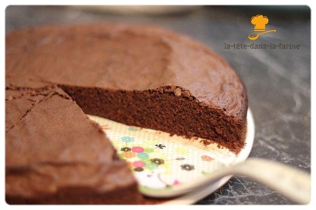 Gâteau au chocolat en poudre (et sans lait) - La tête dans ...