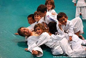 Awesome that kids are learning non-violent jiu-jitsu to deter bullying.