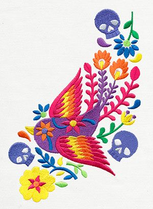 Folklorico - Pajaro Swoop | Urban Threads: Unique and Awesome Embroidery Designs