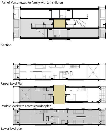 17 best images about 1modernizm on pinterest le corbusier ford foundation - Unite d habitation dimensions ...