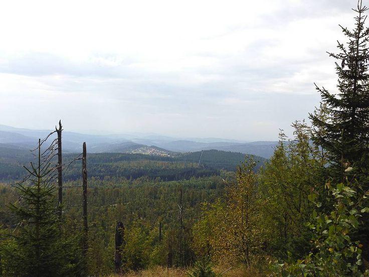 Auf dem Weg zum Siebensteinkopf Blick in den Böhmerwald - Tschechien