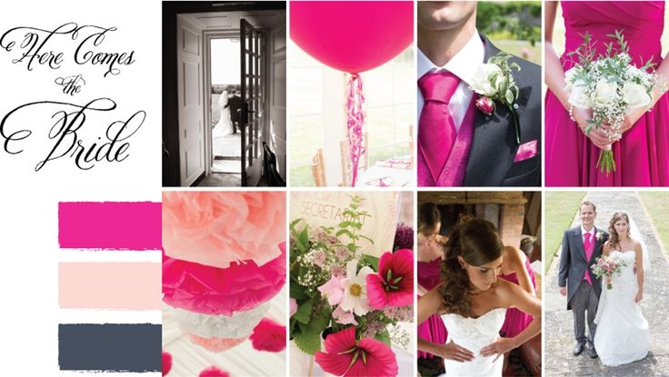 Pink | Bright Pink | Pale Coral | Dark Grey | Wedding theme | Polly Coupée Photography