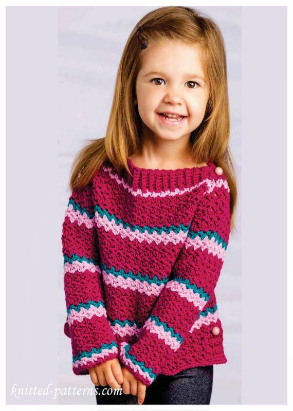 15 Crochet Kids Sweater Tops Free Patterns Crochet And