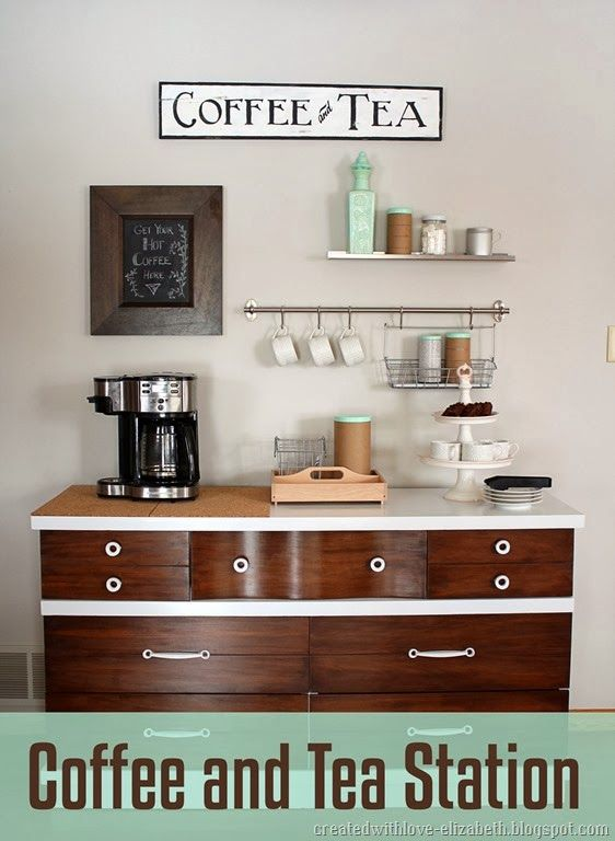Best 25 tea bars ideas only on pinterest tea station for Coffee station ideas for the home