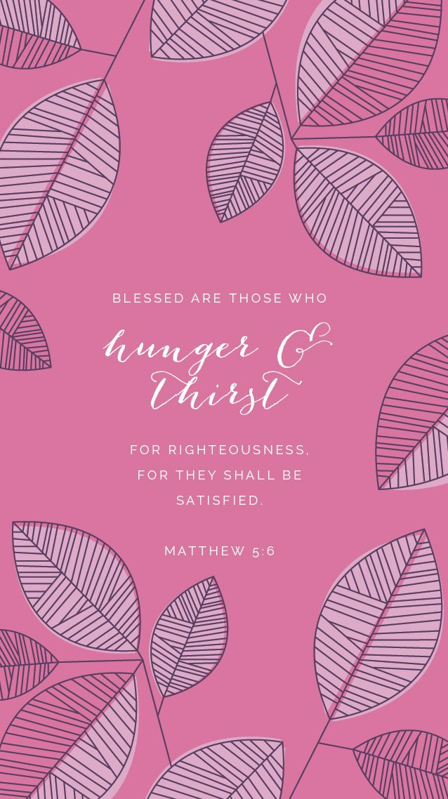 "We're halfway through the Beatitudes series, a small Bible study within Elle & Company's normal Weekly Truth routine. We're digging into Scripture to learn what these 8 verses from Jesus' Sermon on the Mount mean for us as we go about our daily lives, and I'm sharing a free phone wallpaper to help us memorize them and remind us of Truth throughout the week. The Beatitudes, Week 4 ""Blessed are those who hunger and thirst for righteousness, for they shall be satisfied."" Matthew 5:6 ""The grass…"