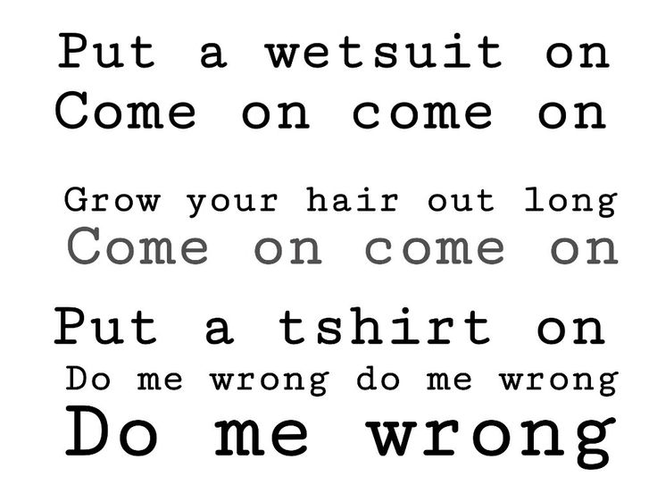 The vaccines - wetsuit