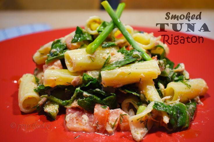 Smoked Tuna and Katiki Cheese Rigaton | projectfood.gr