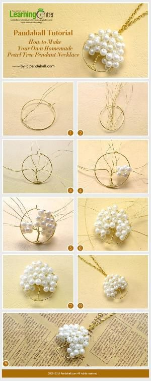 How to Make Your Own Homemade Pearl Tree Pendant Necklace from LC.Pandahall.com   Jewelry Making Tutorials & Tips 2   Pinterest by Jersica