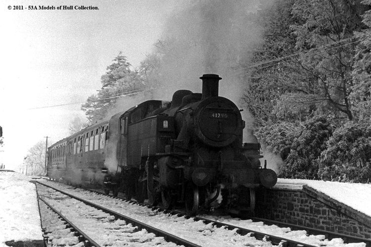 Hatherleigh station, Torrington line, 1962.