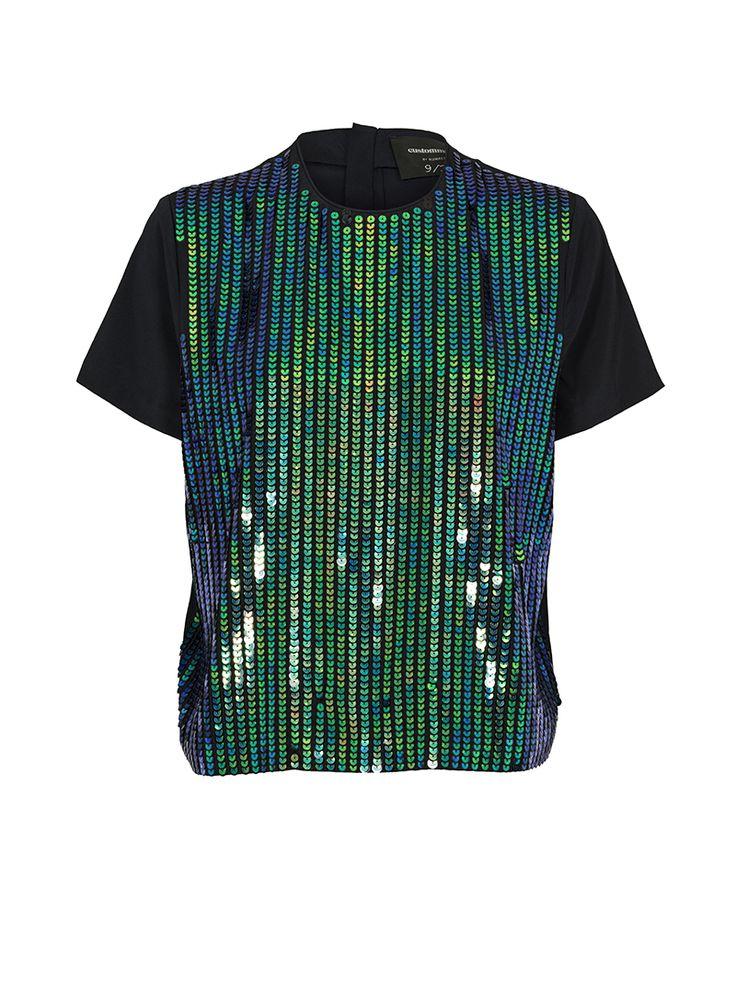 By Numbers Kasandra Sequin Silk T-shirt | Custommade.dk