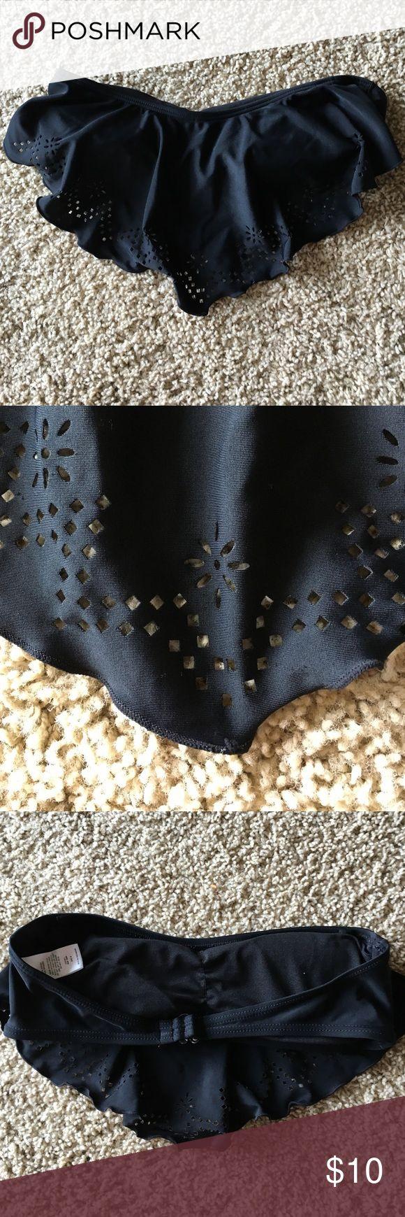Bandeau bikini top Black bandeau bikini top with cut out detail Since Swim Bikinis