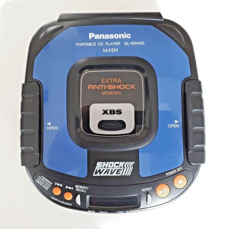 Panasonic SL-SW405 Shock Wave Portable CD Player Walkman Discman Blue   Consumer Electronics, Portable Audio & Headphones, Personal CD Players   eBay!