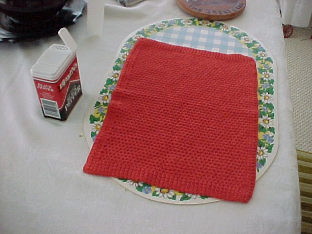 DISHCLOTH MACHINE KNITTED