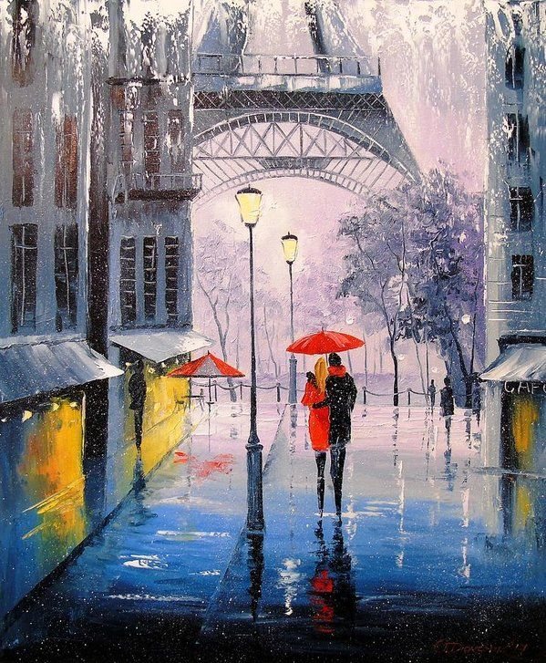 The First Snow In Paris Art Print By Olha Darchuk In 2020 Paris