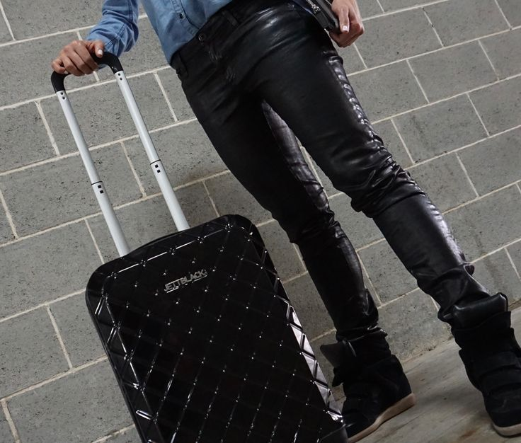 Check Black Carry On by Jett Black - Arrive in Style!