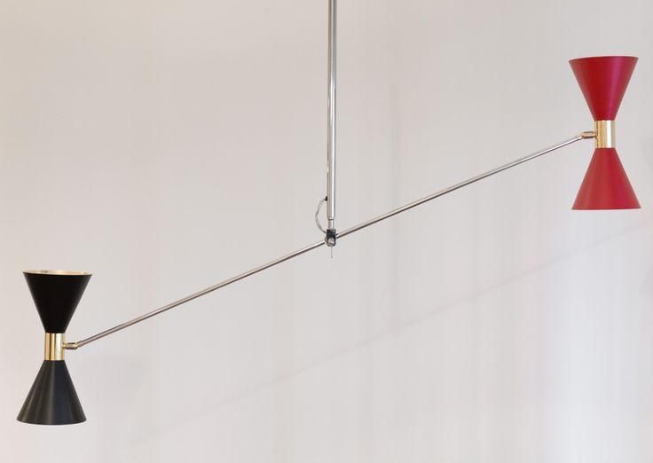 Lampada da soffitto STILNOVO Vintage Anni'50.  Ceiling lamp STILNOVO Vintagr 50s - Mid Century info@contractandmore.it