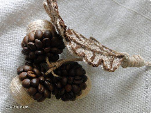 Декоративные кофейные желуди. Мастер-класс