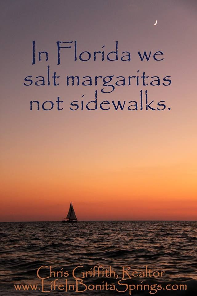 In Florida we salt margaritas not sidewalks. The Gulf of Mexico sunset from Venice, Florida with a sailboat taking in the view. #swfl