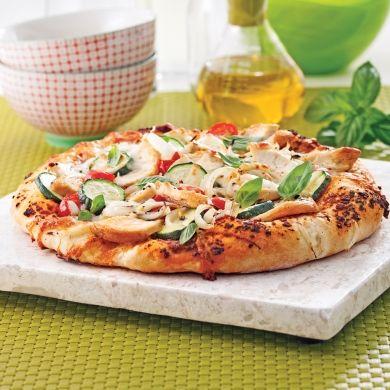 Pizza au poulet mariné à l'italienne - Recettes - Cuisine et nutrition - Pratico Pratique