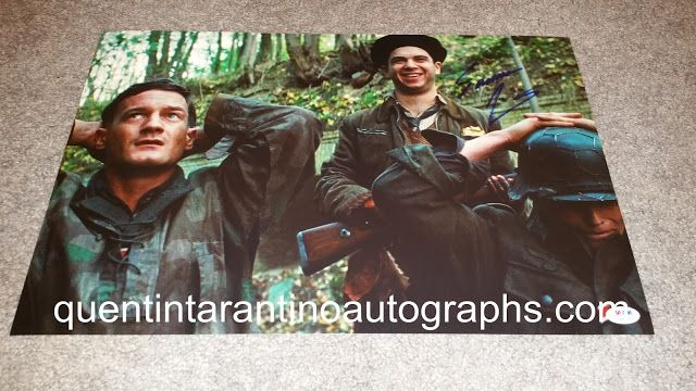 My Quentin Tarantino Autograph Collection: Samm Levine of Inglourious Basterds! Autographs! P...
