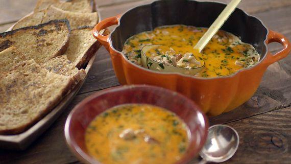 James Martin chicken and chorizo soup recipe on James Martin: Home Comforts