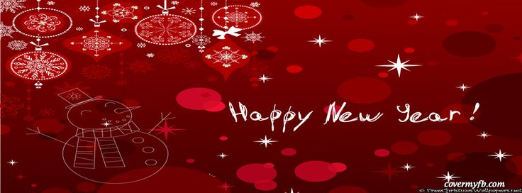 Red Happy New Year Facebook Covers, Red Happy New Year FB Covers, Red Happy New Year Facebook Timeline Covers, Red Happy New Year Facebook Cover Images