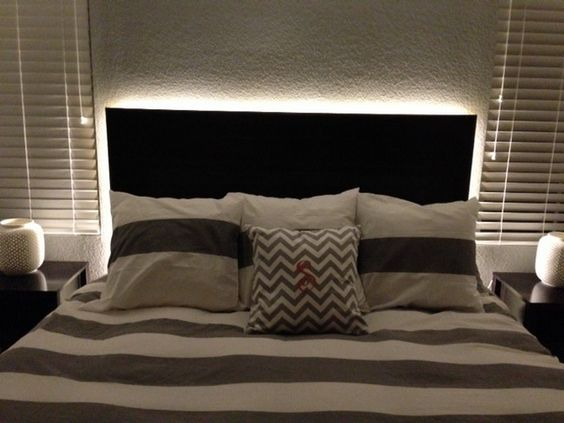 Backlit bedroom headboard - an easy project with LED rope lighting