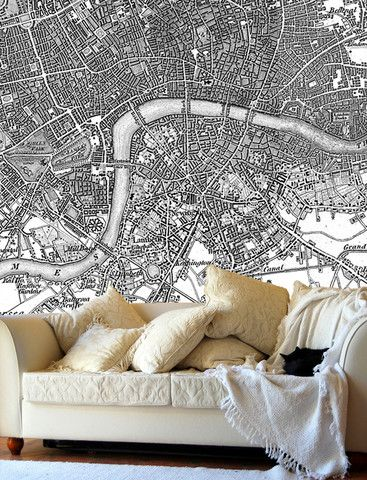 Map Wallpaper - Vintage Ordnance Survey London - Old Series 1805-1822