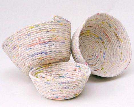C mo hacer una cesta casera para la ropa con cuerda - Cesta de cuerda y ganchillo ...