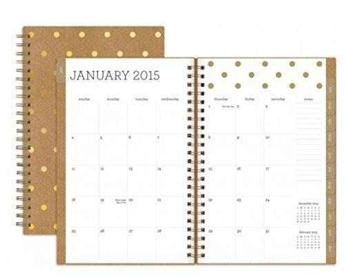 Sugar Paper Kraft and Gold Polka Dot 2015 Planner Sugar Paper