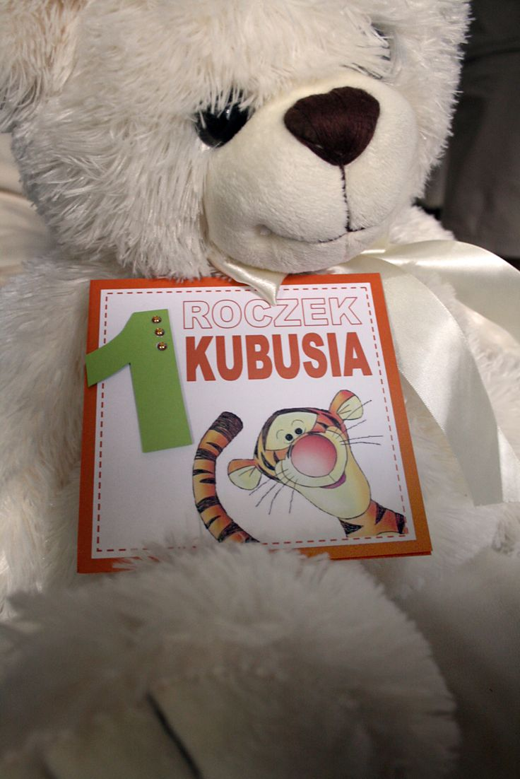 Zaproszenie z rozbrykanym Tygryskiem :) Dostępne są również wersje z innymi bohaterami maluszków.