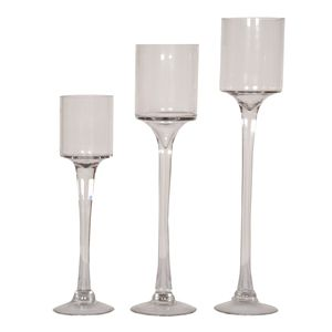 Wholesale Event Solutions - Glass Pedestal Hurricane Candle Holders, $17.20 (http://www.eventswholesale.com/glass-pedestal-hurricane-candle-holders/)
