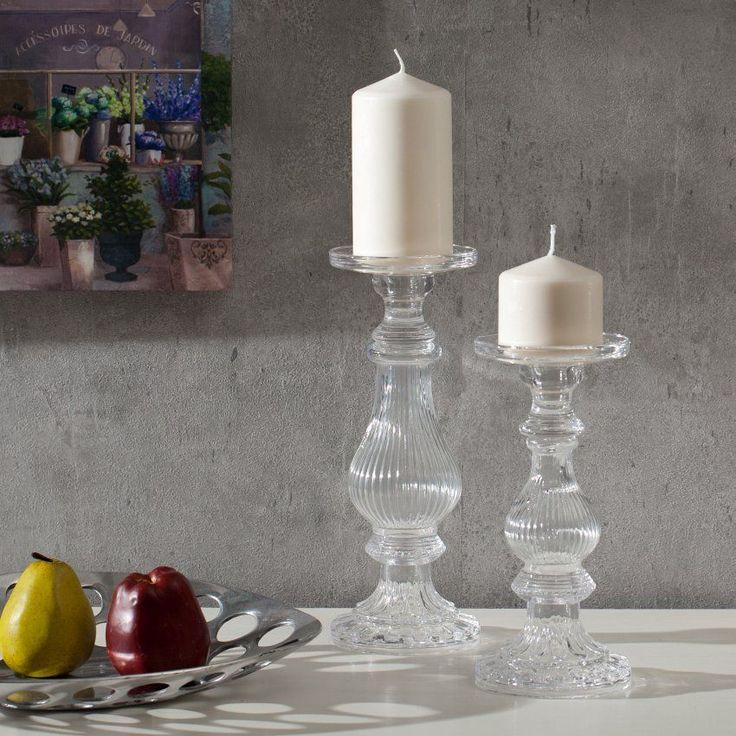 Stilvolle #Kerzenhalter aus #Glas sind die perfekten Accessoires für jedes Candle-Light-Dinner