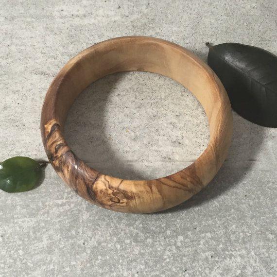 Olive Wood Bracelet Wooden Bracelet Rustic Bangle Gift