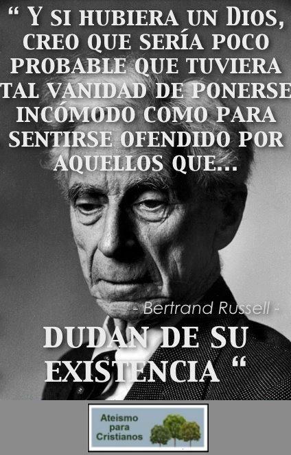 Ateismo para Cristianos.: Frases Célebres Ateas. Bertrand Russell