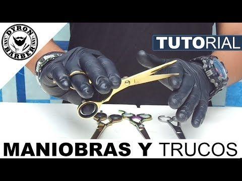 Maniobras y Trucos con Tijeras, Agarre y Movimiento Correcto para Cortar | Tutorial de Barberia - YouTube