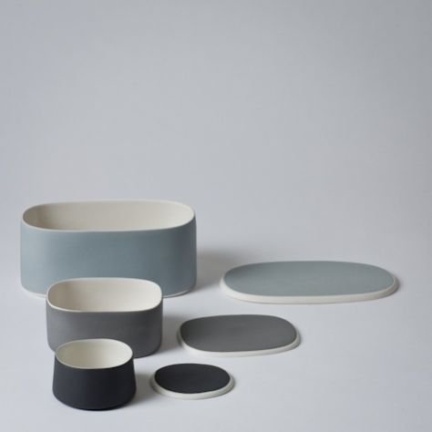 Mjölk : Ceramic boxes designed by Nathalie Lahdenmaki