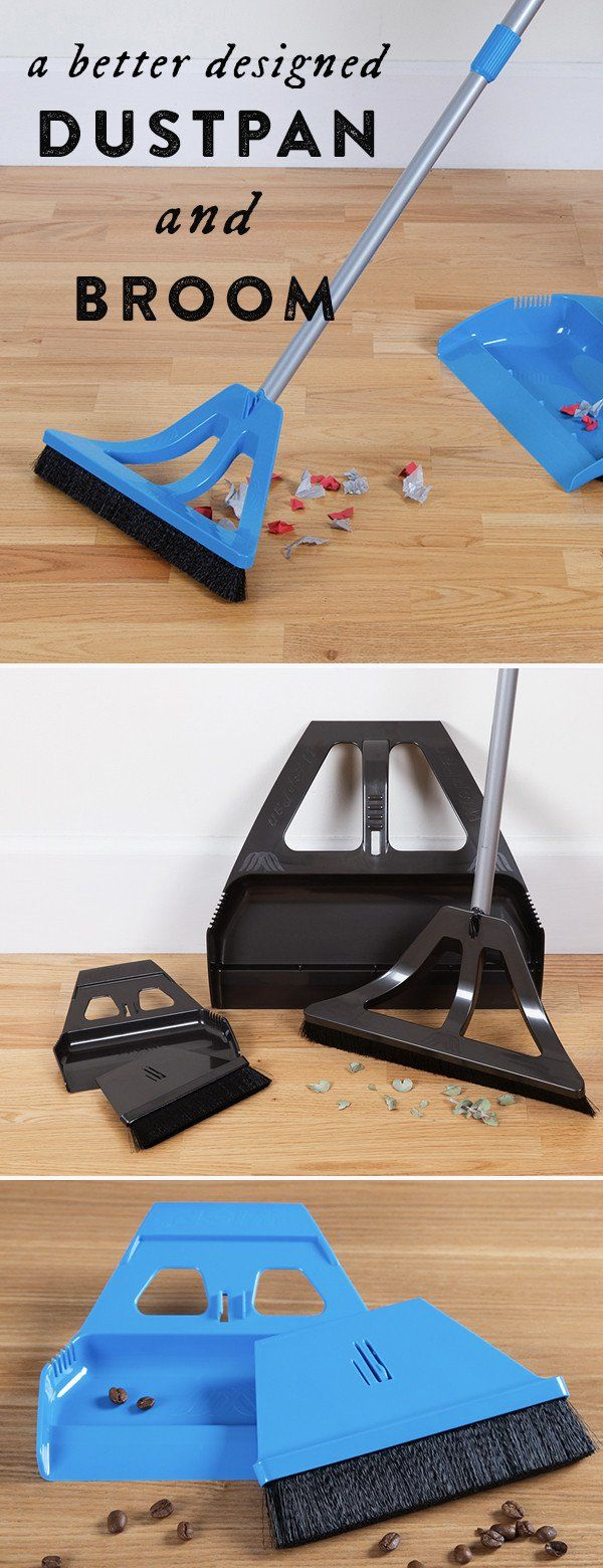Easy, thorough sweeping with less bending. WISP's revolutionary design and hands-free dustpan allows for effortless one hand sweeping. Dscovered by The Grommet.