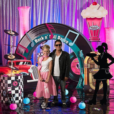 Our exclusive Set the Stage Fifties Party will transport your party back in time to the 1950's. Your guests will twist the night away!