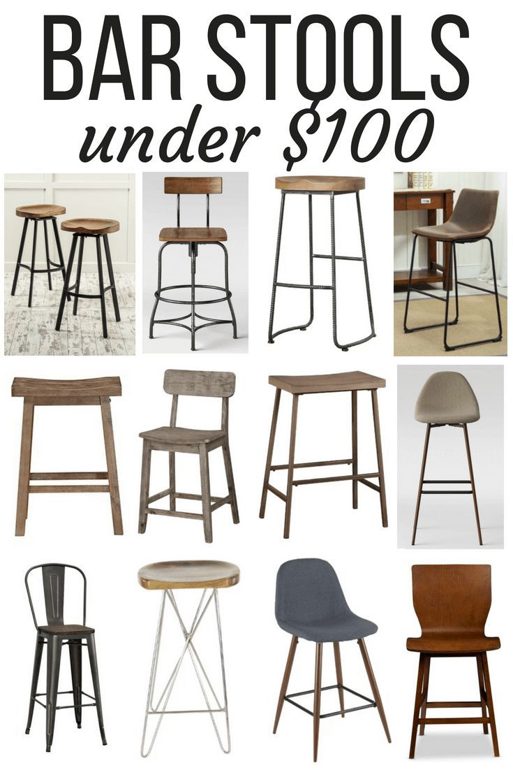 Affordabe Counter Height And Bar Height Bar Stools All Under