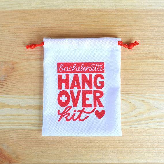 Bachelorette Party Favor Hangover Kit Bachelorette by KaspiParty