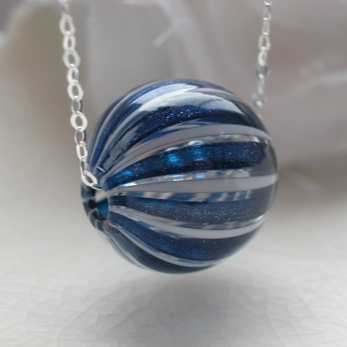 Venetian Murano Blown Glass Necklace - Folksy
