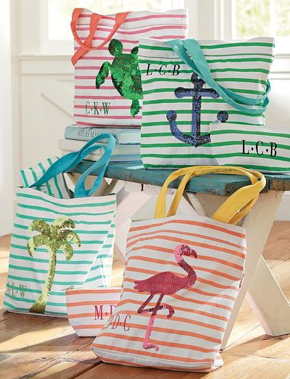 Sweet monogrammed totes & pouches http://rstyle.me/n/jqqhdnyg6