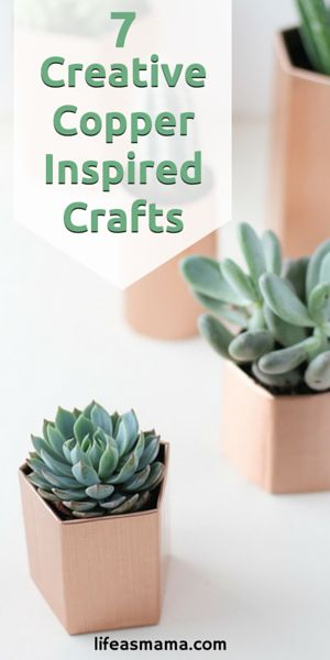Don't you just love how copper is so in style right now? We do! These copper inspired crafts are a great way to add metallics to your home decor, so check them out!
