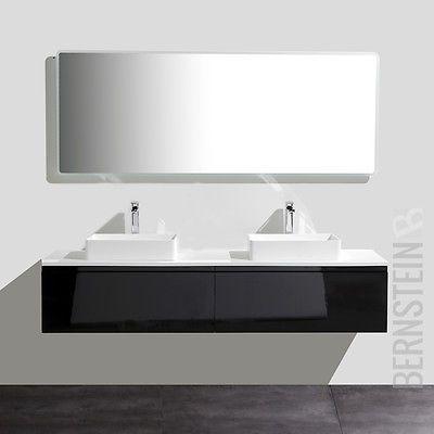 Badmöbelset Luxx Doppelwaschtisch Waschtisch Badezimmermöbel LED Spiegel
