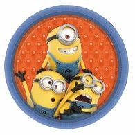 Minions Plates 23cm Pkt8 $8.95 A997970