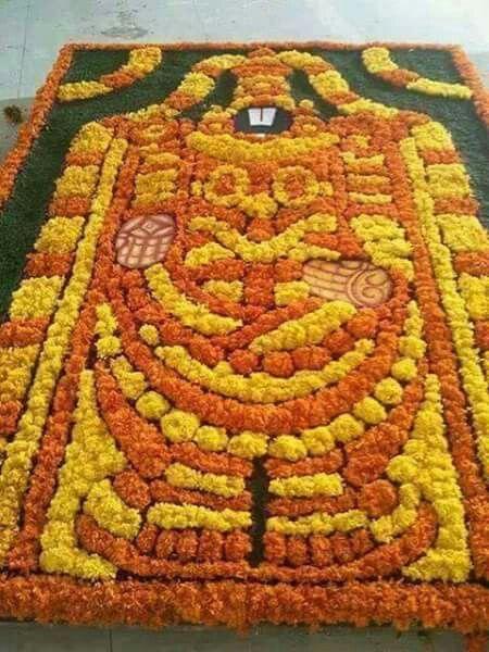 Sri Venkateswara Swamy with flowers .......