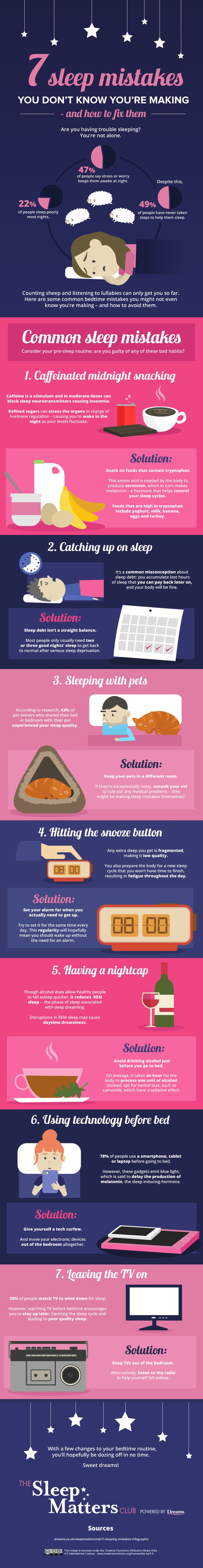 7 Sleep Mistakes You Don't Know You're Making and How to Fix Them #infographic #Sleep #Health