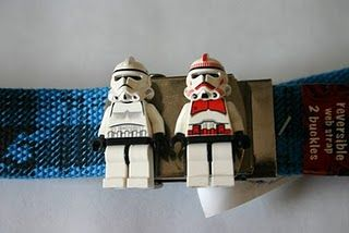 recycled lego Stormtroopers help keep your pants up.